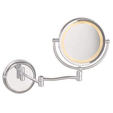 Dainolite 1 Light Magnifier Mirror; Satin Chrome