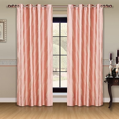 Dolce Mela Dolce Mela Capri Thermal Blackout Curtain Panels (Set of 2)