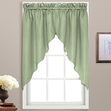 United Curtain Co. Hamden Rod Pocket Swag 38'' Curtain Valance; Sage