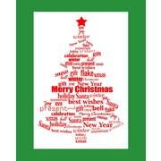 Secretly Designed Word Christmas Art Print