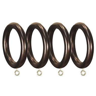 Menagerie Compatible Smooth Drapery Curtain Ring (Set of 4); Bronze