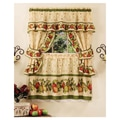 Achim Importing Co Apple Orchard Cottage 57'' Valance and Tier Set; 57'' W x 36'' D