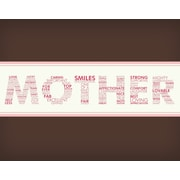 Secretly Designed Words For A Mother Wall Art Print; 10'' H x 8'' W x 0.25'' D