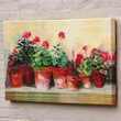 Cape Craftsmen Outdoor Canvas Kathleen's Geraniums Wall Decor