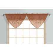 United Curtain Co. Monte Carlo Waterfall 60'' Curtain Valance; Spice