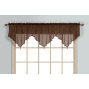 United Curtain Co. Monte Carlo Ascot 40'' Curtain Valance; Chocolate