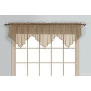 United Curtain Co. Monte Carlo Ascot 40'' Curtain Valance; Taupe