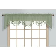 United Curtain Co. Monte Carlo Rod Pocket Scalloped 59'' Curtain Valance; Sage