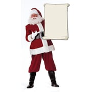 Advanced Graphics Christmas Santa Claus with Scroll Walljammers Wall Decal; 36'' H