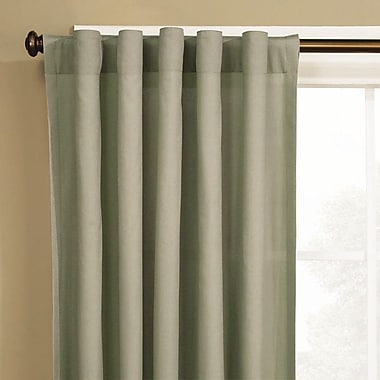 Sure Fit Cotton Duck Window Single Curtain Panel; Sage