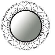 Ashton Sutton Decorative Wall Mirror in Brown Iron