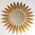 Ashton Sutton Contemporary Sunflower Wall Mirror