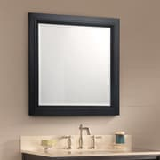 Foremost Bernay Bathroom Mirror; Antique Black