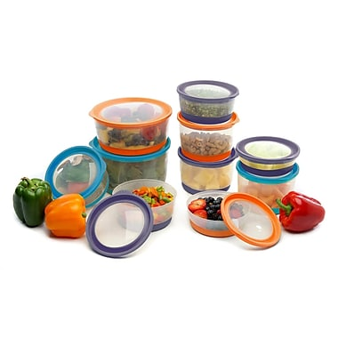 Clear Choice Housewares Platinum Series Food Storage Container (Set of 20); Assorted Colors