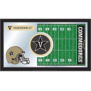 Holland Bar Stool NCAA Football Mirror Framed Graphic Art; Vanderbilt