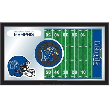 Holland Bar Stool NCAA Football Mirror Framed Graphic Art; Memphis