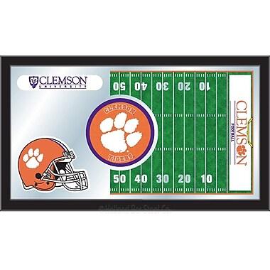 Holland Bar Stool NCAA Football Mirror Framed Graphic Art; Clemson