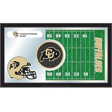 Holland Bar Stool NCAA Football Mirror Framed Graphic Art; Colorado