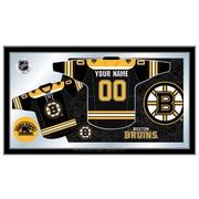 Holland Bar Stool NHL Jersey Mirror Framed Graphic Art; Boston Bruins