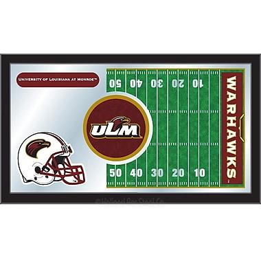 Holland Bar Stool NCAA Football Mirror Framed Graphic Art; Louisiana-Monroe