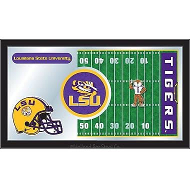 Holland Bar Stool NCAA Football Mirror Framed Graphic Art; Louisiana State