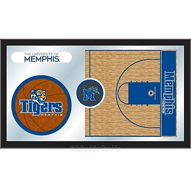Holland Bar Stool NCAA Basketball Mirror Framed Graphic Art; Memphis