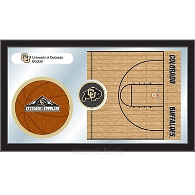 Holland Bar Stool NCAA Basketball Mirror Framed Graphic Art; Colorado