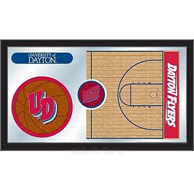 Holland Bar Stool NCAA Basketball Mirror Framed Graphic Art; University of Dayton