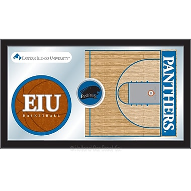 Holland Bar Stool NCAA Basketball Mirror Framed Graphic Art; Eastern Illinois