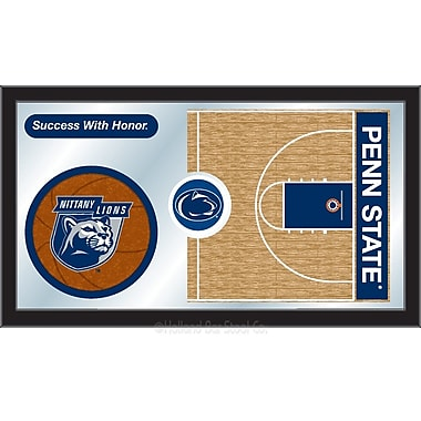 Holland Bar Stool NCAA Basketball Mirror Framed Graphic Art; Penn State