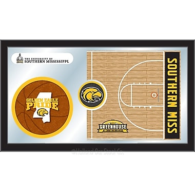 Holland Bar Stool NCAA Basketball Mirror Framed Graphic Art; Southern Miss