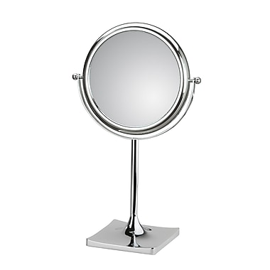 WS Bath Collections Mirror Pure Doppiolo Magnifying Cosmetic Mirror; 6X