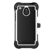 Ballistic® Shell Gel Maxx™ Carrying Case With Holster For Apple iPhone 5C, Dark Charcoal/White