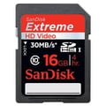 SanDisk® Extreme SDSDRX3 Secure Digital Extended Capacity Flash Memory Card, 16GB