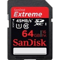 SanDisk® Extreme 64GB SDXC (Secure Digital Extended Capacity) Class 10/UHS-I Flash Memory Card