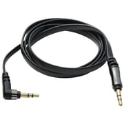 Scosche® flatOUT 3' Mini-Phone Male Flat Audio Cable, Black