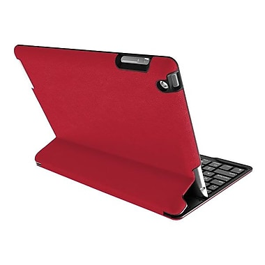 Zagg® Zaggkeys Profolio Keyboard and Folio Case For Apple iPad 2-4 Gen, Red/Silver
