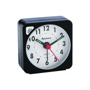 Geneva® 3076AT Advance Cube Travel Alarm Clock, Black