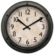 Geneva 4388G Plastic Analog Wall Clock, Gray