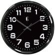 Geneva 4622G Metal Analog Wall Clock, Black