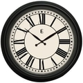 Geneva® 4647G 24in. Wall Clock, Matte Black