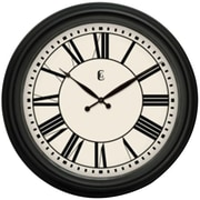 Geneva® 4647G 24 Wall Clock, Matte Black