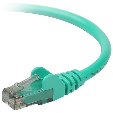 Belkin A3L980-04-GRN-S 4' CAT-6 RJ-45 at6 Snagless Patch Cable, Green