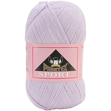 Phentex Sport Solids Yarn, Baby Pink Marble, Pink/White