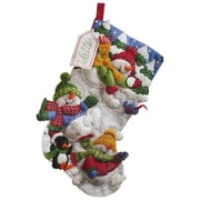 "Snow Fun Stocking Felt Applique Kit, 18"" Long"