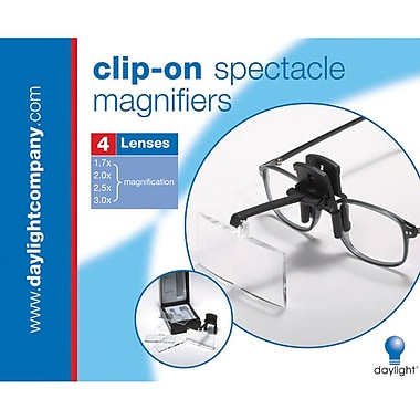 Naturalight StarMag Clip-On Spectacle Magnifier, Black