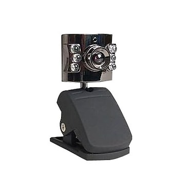 Sabrent™ WCM-6LNV USB 2.0 Night Vision Webcam With Built-in Mic, 640 x 480, 0.35 MP