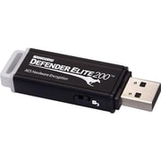 Kanguru™ Defender Elite200™ KDFE200 8GB USB 2.0 USB Flash Drive (Black)