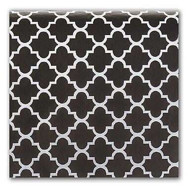 Bags & Bows® Tissue Paper, Black Quatrefoil, 20