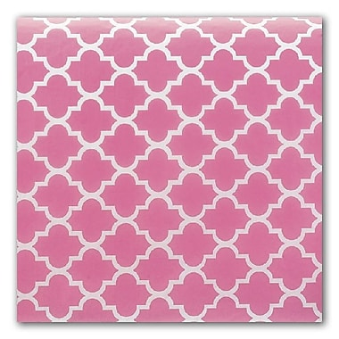 Bags & BowsMD – Papier de soie, quadrilobe rose, 20 x 30 po, paquet de 200